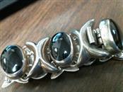 Black Stone Silver-Stone Bracelet 925 Silver 47.1dwt
